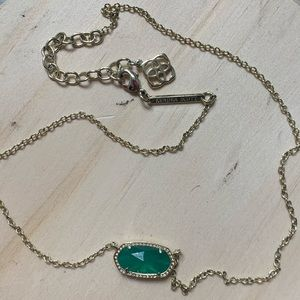 Kendra Scott Emerald pendant necklace